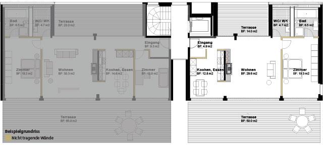Attika 2.5 Halbgeschosswohnung