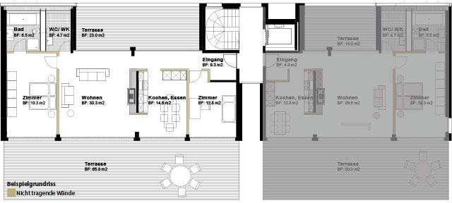 Attika 3.5 Halbgeschosswohnung